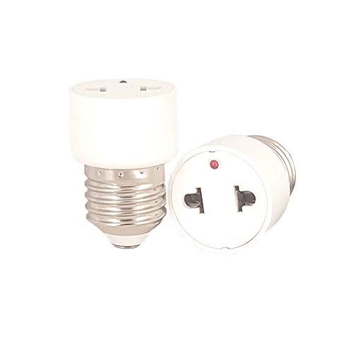 FExYinz 2 piezas por paquete 2 años de garantía Adaptador de enchufe de lámpara LED E27 Soporte de lámpara a enchufe