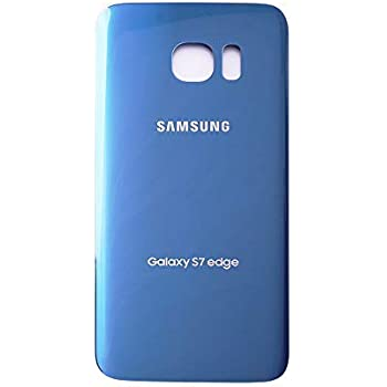 Rear Glass for Samsung Galaxy S7 Blue Aftermarket with Glue Card