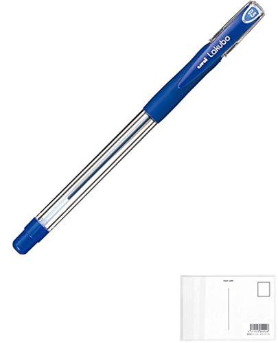 三菱鉛筆 三菱ボールペンVERY楽ボ極細0.5mm 青10本 + 画材屋ドットコム ポストカードA