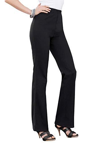 Roamans Women's Plus Size Bootcut Pull-On Stretch Jean - 26 W, Black Denim