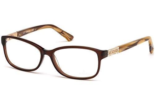 SWAROVSKI Eyeglasses SK5155 FOXY 045 Shiny Light Brown