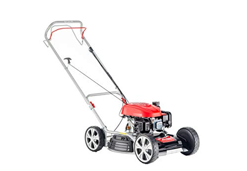 AL-KO Benzinrasenmäher 468 SP-A Bio (46 cm Schnittbreite, 2.1 kW Motorleistung, Robustes Stahlblechgehäuse, Mulchrasenmäher, mit Seitenauswurf und Radantrieb, für Rasenflächen bis 1400 m²)