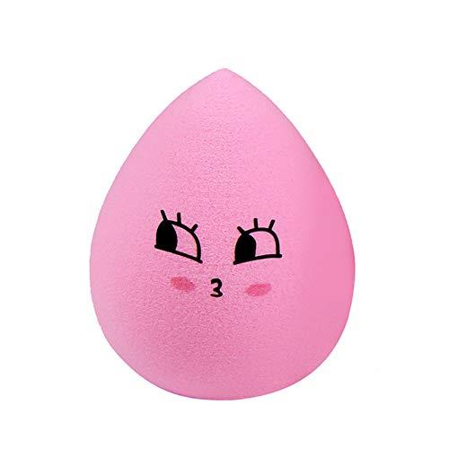 GDYX Bouffée de poudre 1 Pièce Maquillage En Forme De Goutte Puff Éponge Mixte Visage Fondation Maquillage Puff rose