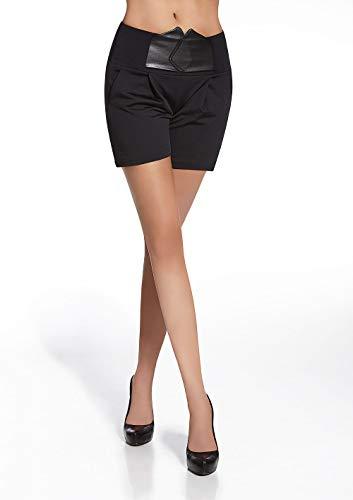 Panty's, sexy, met tassen/elastiek, riem-effect, maat L, Taille S, zwart.