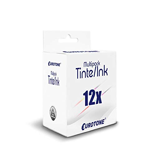 12x Eurotone Cartuccia per Epson XP850 XP960 XP750 XP860 XP950 XP55 XP760 sostituisce T2421-26 24 SET