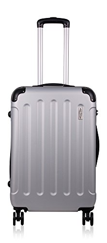 mächtig Koffer und Koffer mit 4 Doppelrädern, Teleskopstange, TSA-Schloss – Koffer…