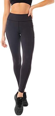 Kyodan Womens Basic Yoga Leggings with Side Pockets Black product image