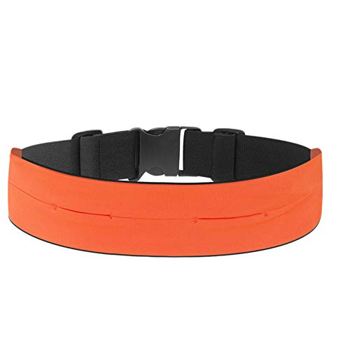 Riñoneras Belt Universal - Deportivo Cinturón de Correr Prueba de Sudor Cinturon para Correr Porta Movil Running Ejercicios Naranja