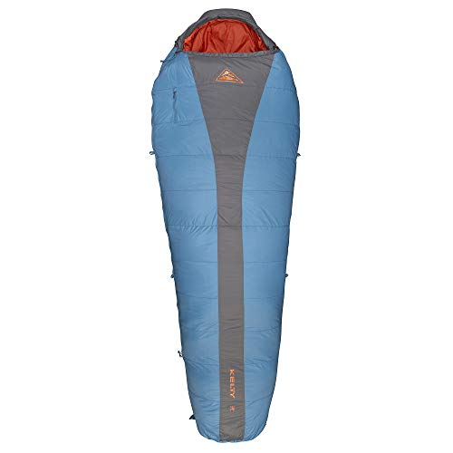 Kelty Cosmic 20 Degree Down Sleeping Bag - Ultralight Backpacking Camping Sleeping Bag with Stuff Sack, Blue, Regular