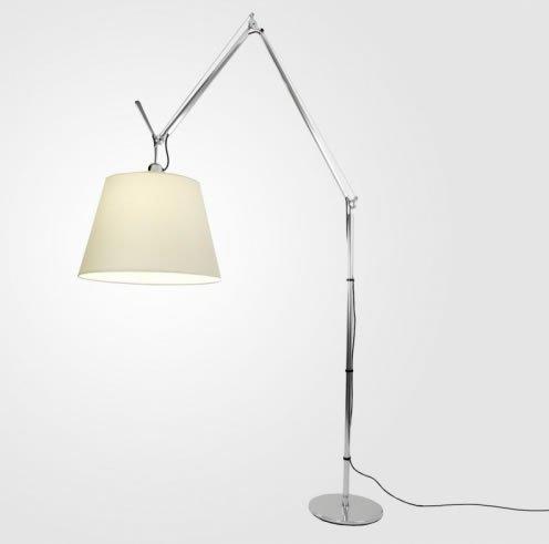 ArtemideTolomeo Mega Terra - Lámpara de pie con regulador, aluminio, Pergamino 150.00W