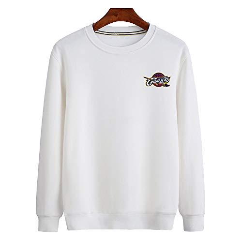Brave Soul - Sweat-Shirt à Manches Longues et col Rond pour Homme-White-XL