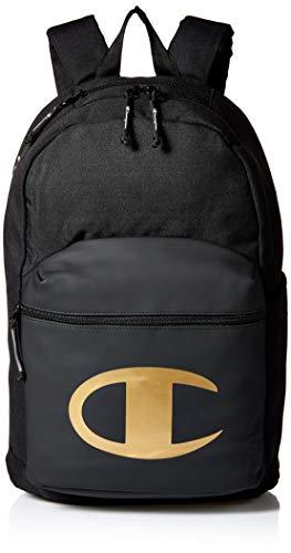 Champion Herren Men's SuperCize Backpack Rucksäcke, schwarz/Gold, Einheitsgröße