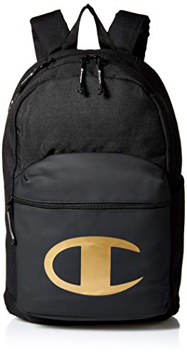 Champion Men's SuperCize Backpack, Black/Gold, One Size