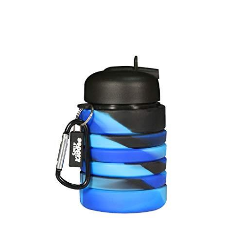 Smily Kiddos Silicone Expandable & Foldable Water Bottle Black Exapandable Soft Water Bottle Expandable Water Bottle for Kids Silicone Sports Bottle