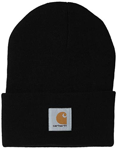 Carhartt Men's Knit Cuffed Beanie, Black, One Size