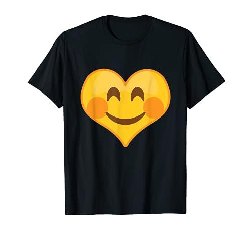 Emoticono de cara de corazón ruborizante Camiseta