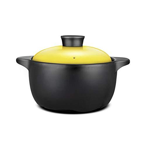 KFXL faitout ceramique Cocotte, Pot À Haute Température, Micro-ondes En Céramique Petite Cocotte, Pot À Gaz À Foyer Ouvert cocotte en fonte (Color : A, Size : 3L)