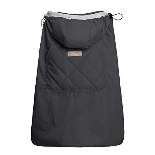 Bebamour Winterbezug für Babytrage Warmer Universal Hoodie Babytragebezug für alle Jahreszeiten (Grau)