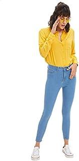 DeFacto Side Pocket Slim-Fit Jeans for Women - Light Blue, 29
