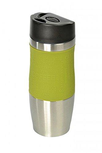 WELLGRO® Thermobecher 400 ml - Edelstahl - BPA-frei - Isolierbecher - Farbe wählbar, Farbe:Grün