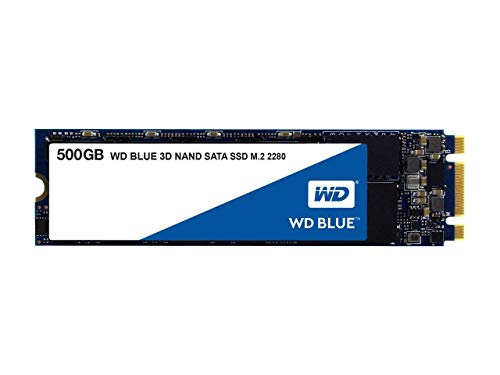 Western Digital 500GB WD Blue 3D NAND Internal PC SSD - SATA III 6 Gb/s, M.2 2280, Up to 560 MB/s -...