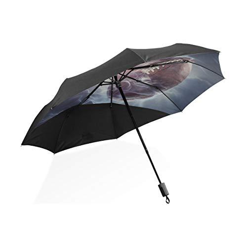 Big Umbrella Rain für Familienmode Ellipsentrainer Rugby Sport Tragbarer kompakter Klappschirm Anti-UV-Schutz Winddicht Outdoor Travel Frauen Damen Winddichter Regenschirm