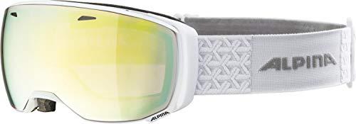 ALPINA ESTETICA Skibrille, Unisex– Erwachsene, white, one size