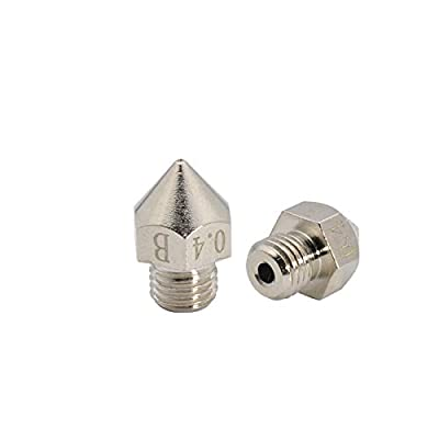 2pcs Upgrade 3D Printer Plated Wear Resistant Nozzle M6 Brass Nozzle 0.4mm ONLY For Creality CR-10S Pro / CR-10 MAX Original hotend 3D Printer