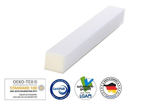 saarschaum Schaumstoffstreifen Matratzenverlängerung Matratzenausgleich Zuschnitt Polster RG2540 10x15x200cm
