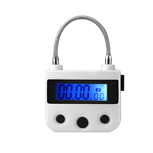 HIPLAYGIRL 99 Hours Max Timing Lock - USB Rechargeable Timed Padlock with LCD Display