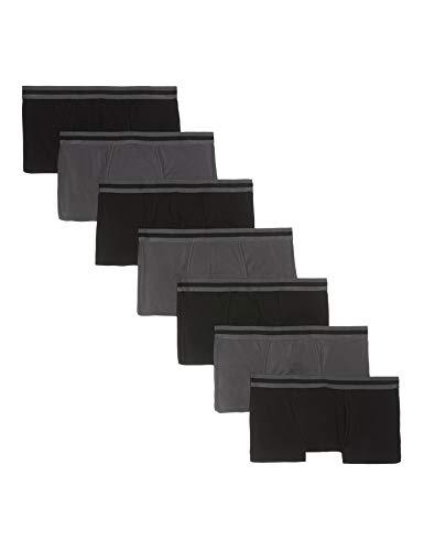 Amazon-Marke: find. Herren Boxershorts im 7er-Pack, Mehrfarbig (Black/Charcoal), XS, Label: XS