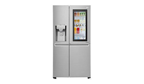LG Electronics InstaView GSX 961 NEAZ Side-by-Side / A++ / 178 cm / 376 kWh/Jahr / 405 L Kühlteil / 196 L Gefrierteil / edelstahl / Pure and Fresh Luftfilterung im Kühlbereich