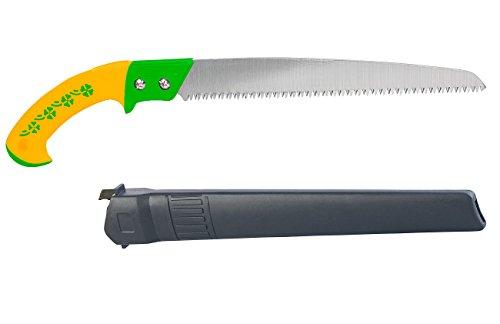 Royal Gardineer Baumsäge: Handsäge mit Grobzahnung & Holster, 30-cm-Sägeblatt, 65Mn-Carbon-Stahl (Gartensäge)
