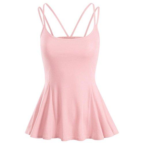 Preisvergleich Produktbild OSYARD Damen Sommer Strand Weste Top ärmellose Bluse Casual Tank lose Tops T-Shirt(EU 46 / XL