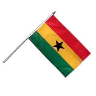 Stockflagge Ghana 30*45 cm Fahne Flagge