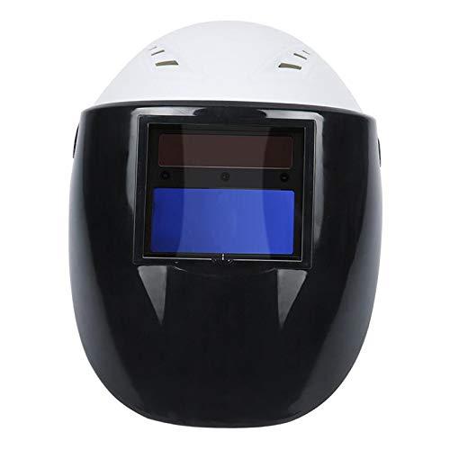 FITYLE Casco de soldadura de Auto oscurecimiento Solar Capucha ajustable máscara para TIG MIG ARC soldar casco de seguridad - Blanco