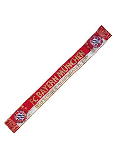 FC Bayern München Schal Deutscher Rekordmeister/Fanschal rot-weiß-Gold