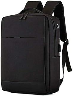 Fyuanmeiibb Backpack, USB Charging Backpack Leisure And Business Man Bag Raincoat Laptop Shoulder Bag. (Color : Black)