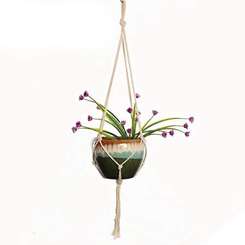 Macrame Plant Hanger Opknoping Planter Mand Katoen Touw Hennep Net Mand, Zonder Pot en Plant #06