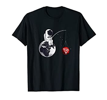 Cryptocurrency Talk - Tron To The Moon TRX Space Man Merch T-Shirt