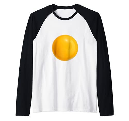 Huevo Frito Disfraz Yema De Huevo Amante Del Desayuno Camiseta Manga Raglan