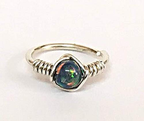 Opal Nose Ring/Cartilage Earring Helix/Septum Hoop - Sterling Silver 925 / 9K Yellow Or Rose Solid Gold