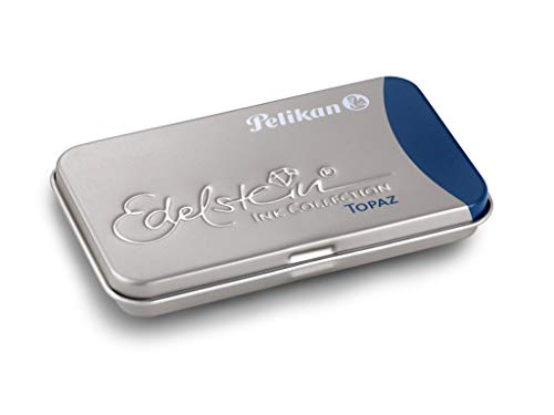 Pelikan 339655 - Cartucho para pluma estilográfica Edelstein de tinta fina, 6 cartuchos de calidad Premium, color de topacio ⭐