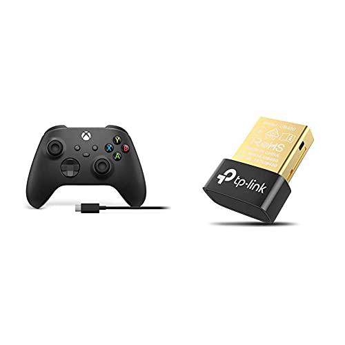 Xbox Wireless Controller M für PC + USB C Cable & TP-Link UB400 Nano USB Bluetooth 4.0 Adapter Dongle (für PC Laptop Desktop Computer, unterstützt Windows 10/8.1/8/7/XP)