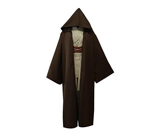 TX Fiesta De Halloween Serie De Televisión Anime Cosplay Capucha Traje Jedi,Brown,M