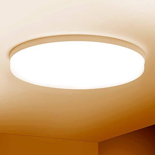 Combuh Deckenleuchte LED 48W 4320LM Deckenlampe für Schlafzimmer Wohnzimmer Küche Warmweiß 3000K Rund Ø30cm