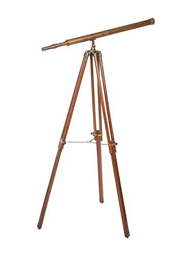 Telescopio Estilo Antiguo - Latón bruñido, trípode de Madera - 150