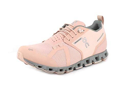 ON-Running Womens Cloud Waterproof Rose/Lunar Running Shoe - 11