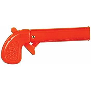 Halloween Prop Magic Toy Red Pistol Joke Funny Gag Orange Bang Gun With Flag