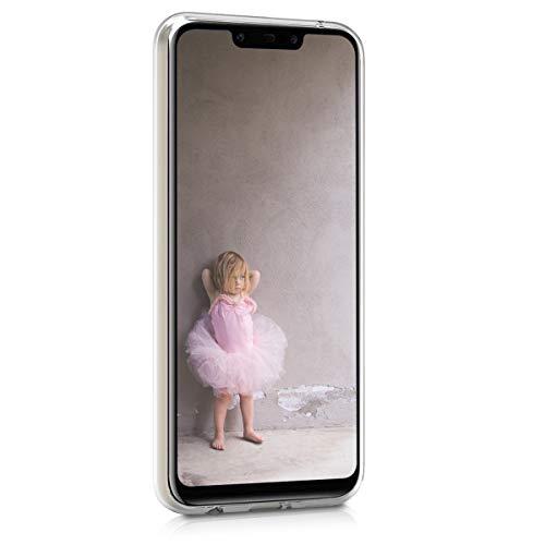 kwmobile Huawei Mate 20 Lite Hülle - Handyhülle für Huawei Mate 20 Lite - Handy Case in Fee Glitzer Design Rosegold Transparent - 2